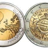 2 Euro Austria 2012 Anniversario Euro