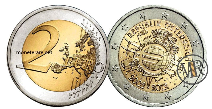 2 Euro Commemorativi Austria 2012 Euro