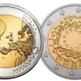 2 Euro Austria 2015 Bandiera Europea