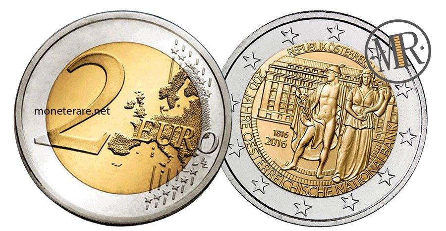 2 Euro Commemorativi Austria 2016 Banca Nazionale