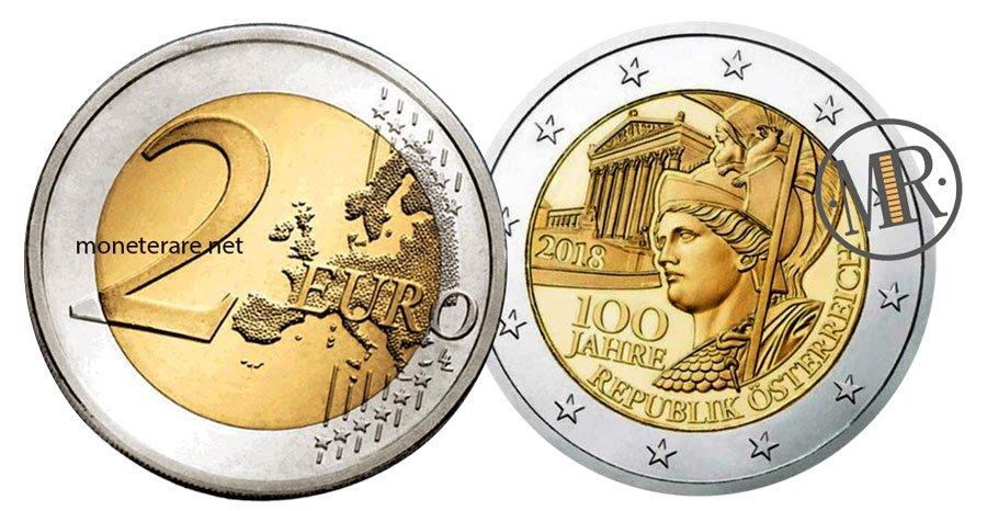2 Euro Commemorativi Austria 2018
