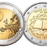 2 Euro Francia 2007 – 50° anniversario dei Trattati di Roma