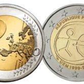 2 Euro Francia 2009 - 10° anniversario dell'Unione Economica e Monetaria