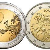 2 Euro Francia 2011 - 30° anniversario Festa della Musica