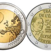 2 Euro Francia 2013 - 50° anniversario Trattato dell'Eliseo