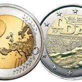 2 Euro Francia 2014 - 70° anniversario dello sbarco in Normandia