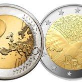 2 Euro Francia 2015 - 70 anni di pace in Europa