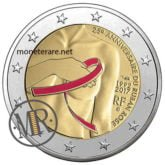 2 Euro Francia 2017 Nastro Rosa  - 25° anniversario Nastro Rosa Fondo Specchio