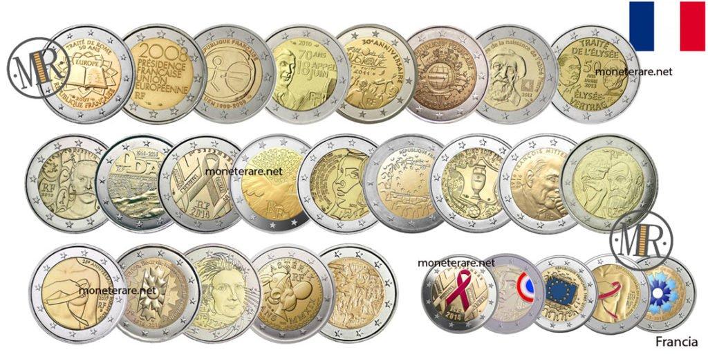 2 euro Commemorativi Francia Eurocollezione