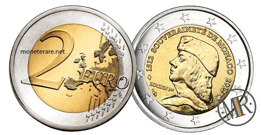 2 Euro Commemorative Monaco 2012 Luciano Grimaldi