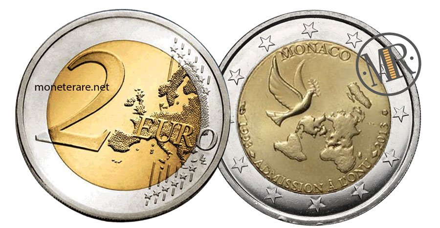 2 Euro Commemorative Monaco 2013 ONU