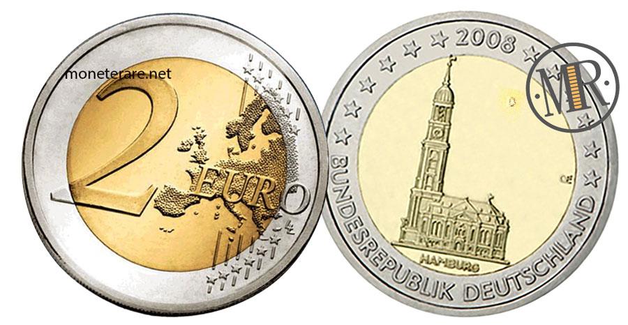 2 Euro Commemorativi 2008 San Michele ad Amburgo