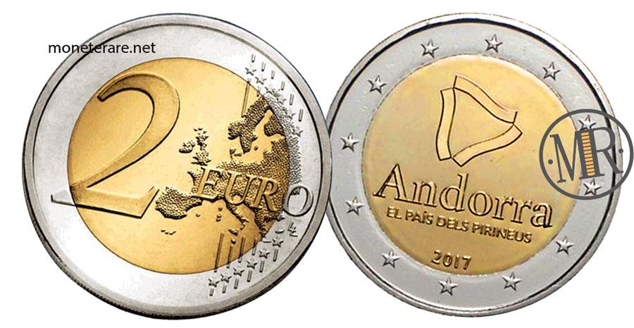 2 Euro Commemorativi Andorra 2017 Paese dei Pirenei