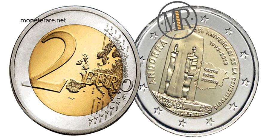 2 Euro Commemorativi Andorra 2018 Costituzione di Andorra