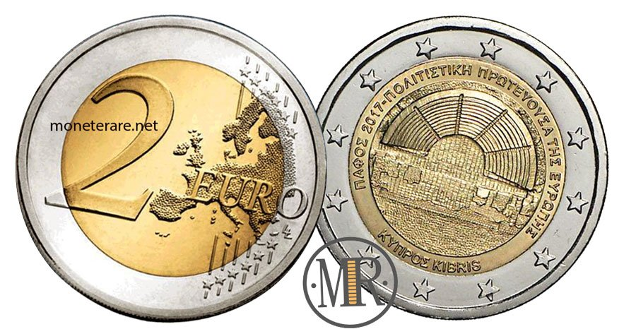 2 Euro Commemorativi di Cipro 2017 Pafo