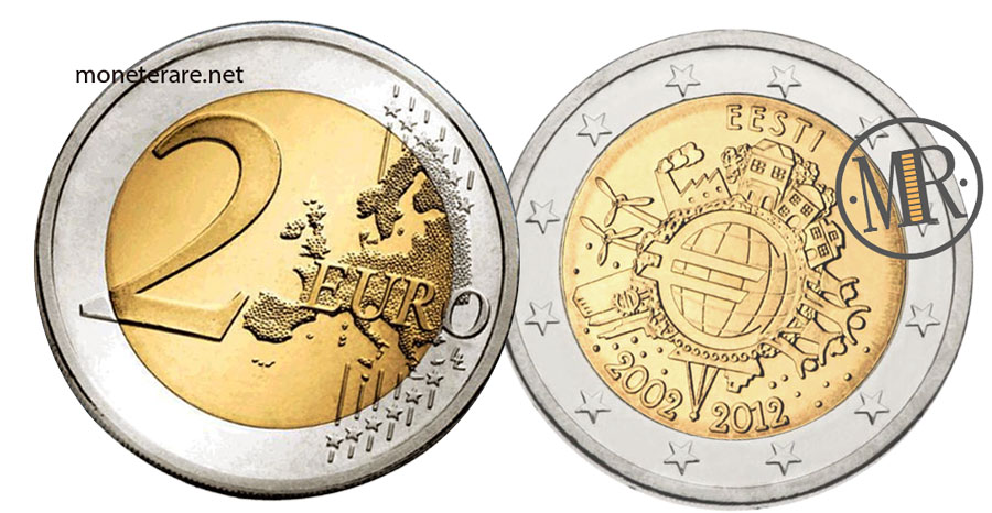 2 Euro Commemorativi Estonia 2012 EURO