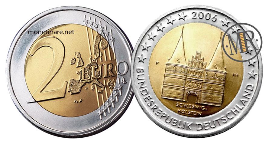 2 Euro Commemorativi Germania 2006 Schleswig Holstein