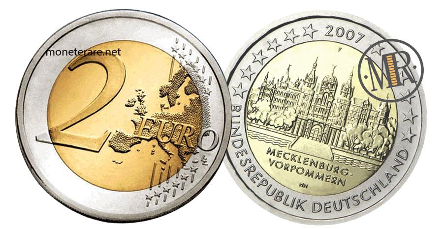 2 Euro Commemorativi Germania 2007 Castello di Schwerin