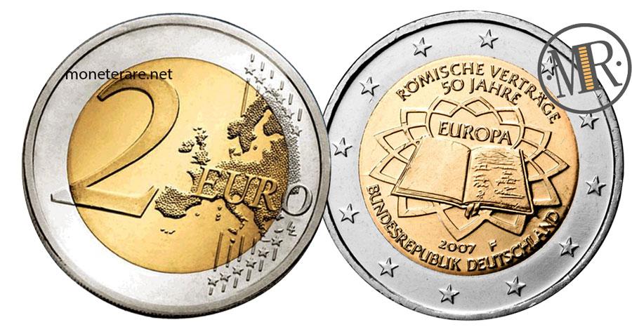 2 Euro Commemorativi Germania 2007 Trattati di Roma