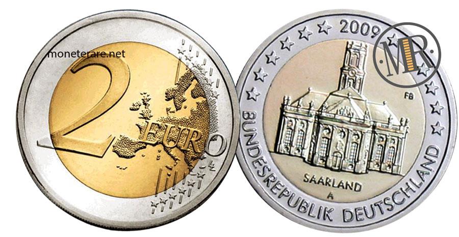 2 Euro Commemorativi Germania 2009 Chiesa di San Luigi Saarland