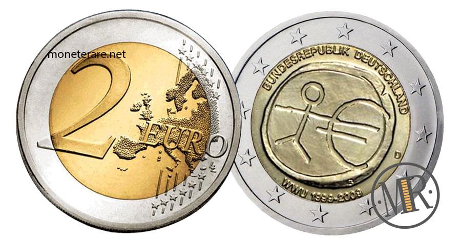 2 Euro Commemorativi Germania 2009 Unione Economica Monetaria WWU