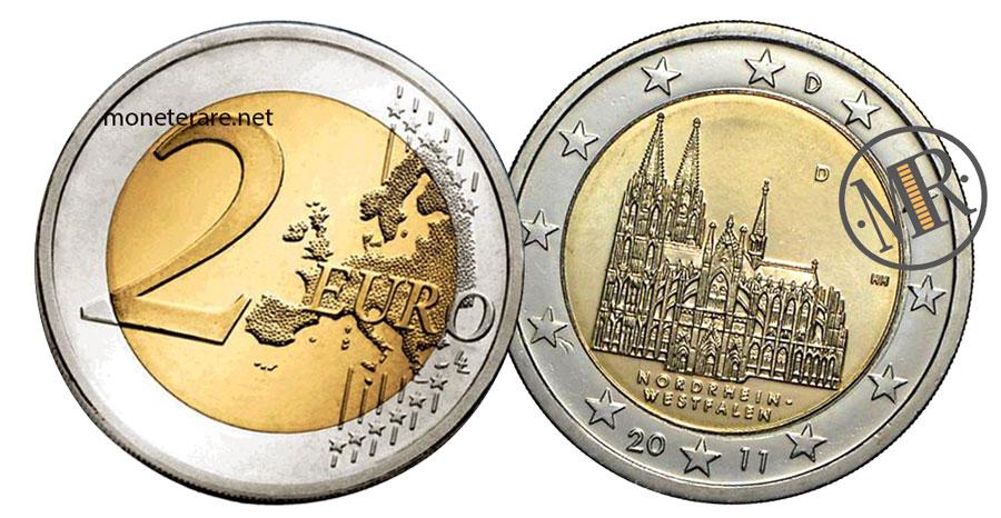 2 Euro Commemorativi Germania 2011 Nordrhein-Westfalen Colonia