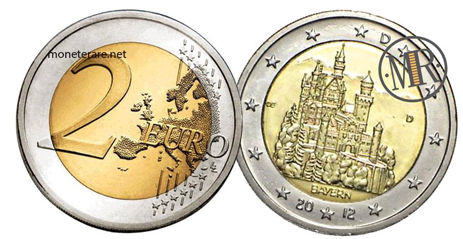 2 Euro Commemorativi Germania 2012 Castello di Neuschwanstein Bayern