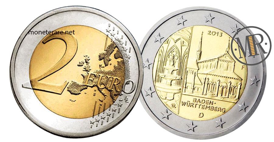2 Euro Commemorativi Germania 2013 Monastero di Maulbronn Baden-Württemberg