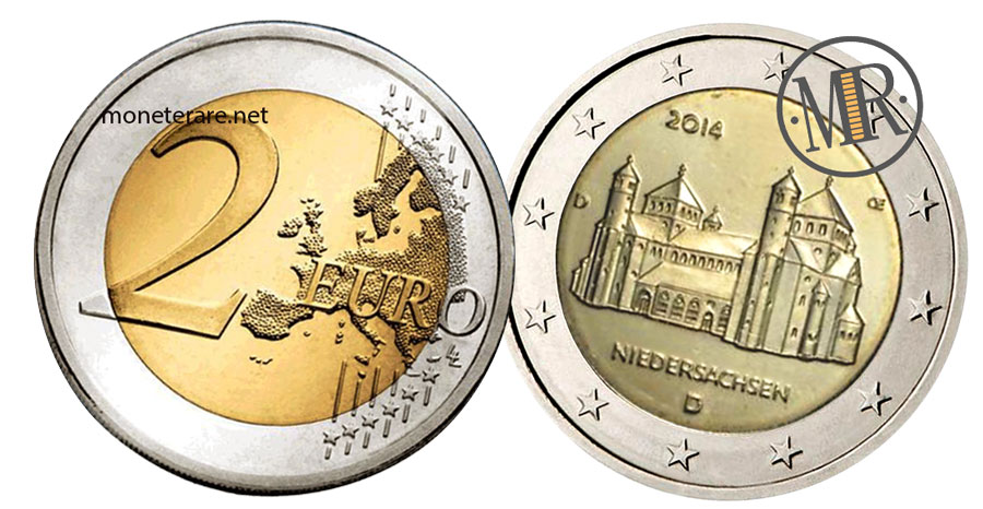 2 Euro Commemorativi Germania 2014 San Michele a Hildesheim  Niedersachsen
