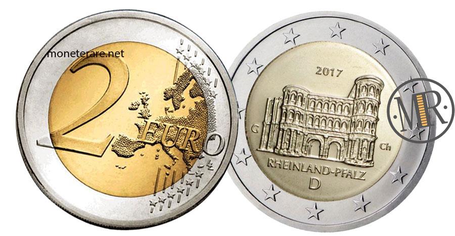 2 Euro Commemorativi Germania 2017 Porta Nigra di Treviri  Rheinland-Pfalz