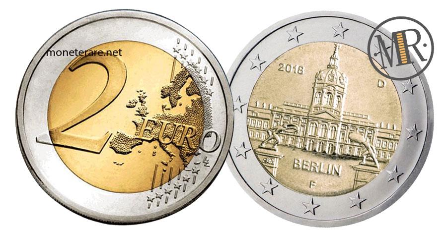 2 Euro Commemorativi Germania 2018 Castello di Charlottenburg Berlino