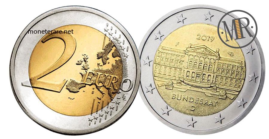 2 Euro Commemorativi Germania 2019 Bundesrat