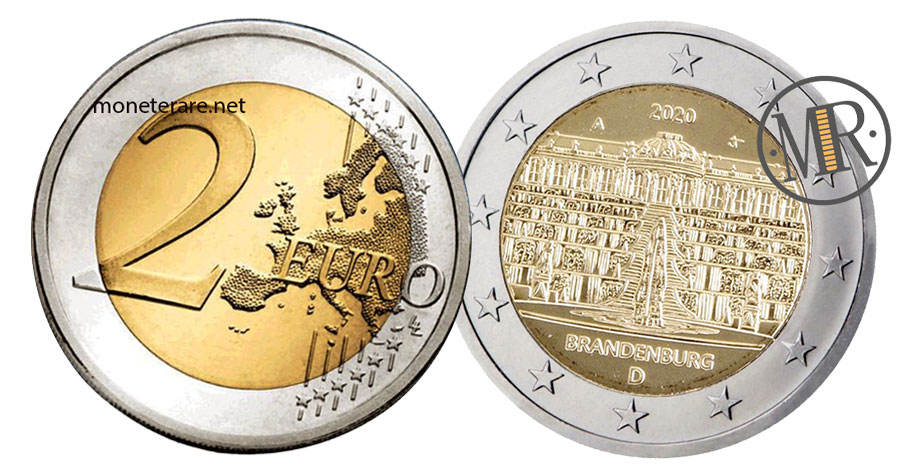 2 Euro Commemorativi Germania 2020 Brandeburgo