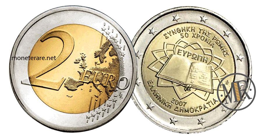 2 Euro Commemorativi Grecia 2007 Trattati di Roma