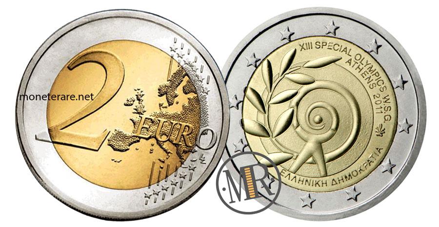 2 Euro Commemorativi Grecia 2011 XIII Special Olympics