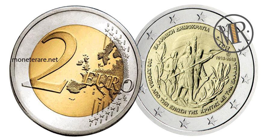 2 Euro Commemorativi Grecia 2013 Unione di Creta alla Grecia