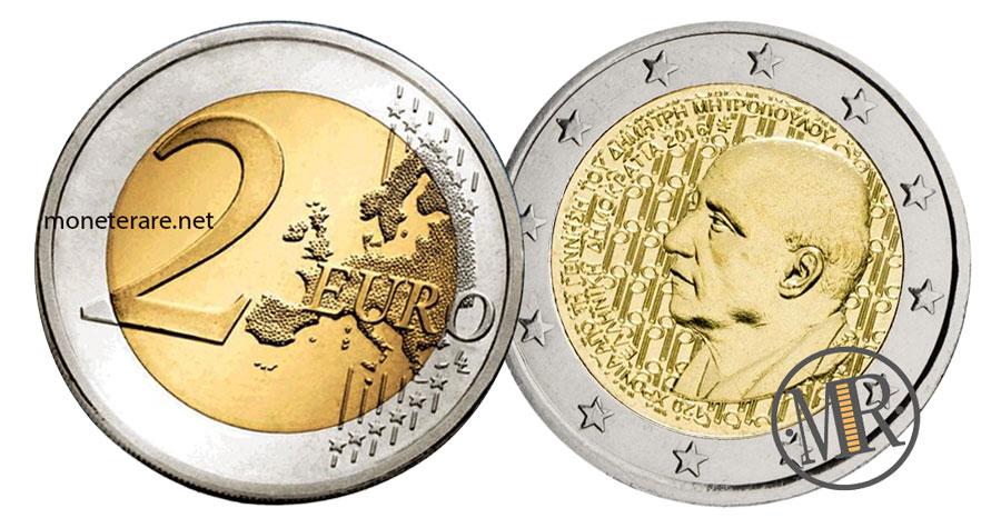 2 Euro Commemorativi Grecia 2016 Dimitri Mitropoulos