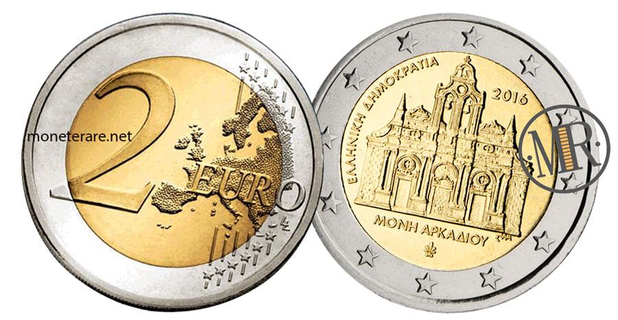 2 Euro Commemorativi Grecia 2016 Monastero di Arkadi