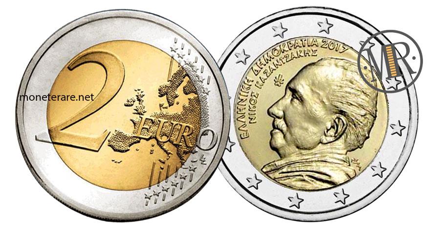 2 Euro Commemorativi Grecia 2017 Nikos Kazantzakis