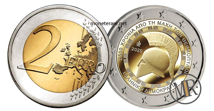 2 Euro Commemorativi Grecia 2020 Battaglia Termopili