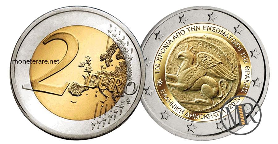 2 Euro Commemorativi Grecia 2020 Unione della Tracia alla Grecia