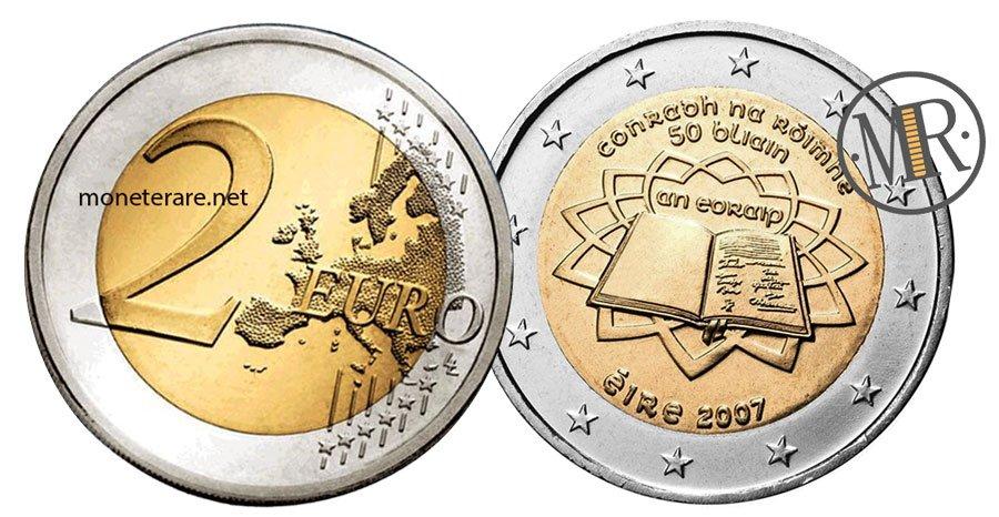 2 Euro Commemorativi Irlanda 2007 Trattati di Roma