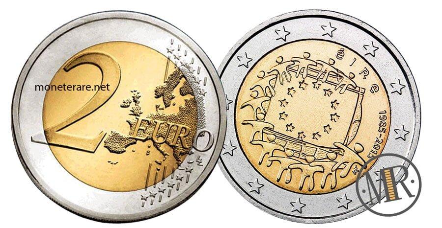 2 Euro Commemorativi Irlandesi 2015 Bandiera Europea