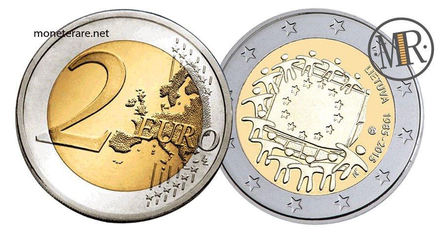 2 Euro Commemorativi Lituania 2015 Bandiera Europea