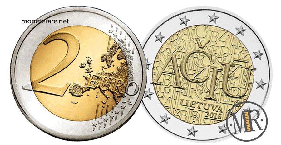 2 Euro Commemorativi Lituania 2015 Lingua Lituana