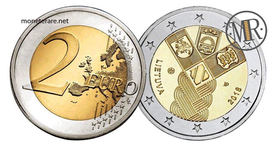 2 Euro Lituania 2018 Stati Baltici