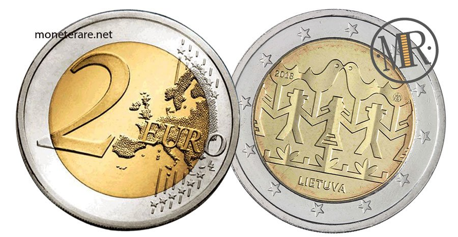 2 Euro Commemorativi Lituania 2018 Festival della Canzone