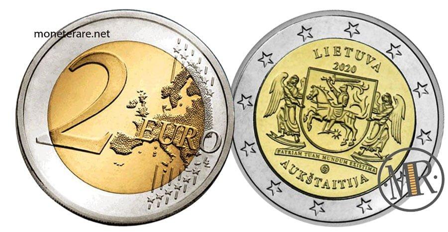 2 Euro Commemorativi Lituania 2020 Aukštaitija