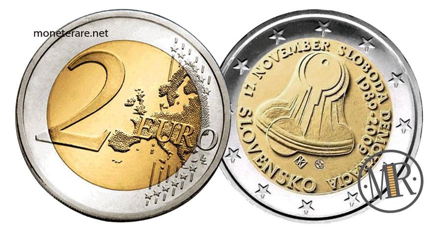Slovakia 2 Euro Coins 2009 - NOVEMBER SLOBODA DEMOKRACIA 1980-2009