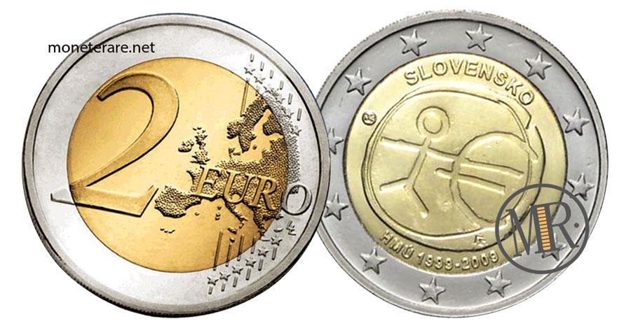 Slovakia 2 Euro Coins 2009 - Economic and Monetary Union (HMÚ 1999-2009)